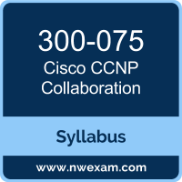 300-075 Syllabus, CCNP Collaboration Exam Questions PDF, Cisco 300-075 Dumps Free, CCNP Collaboration PDF, 300-075 Dumps, 300-075 PDF, CCNP Collaboration VCE, 300-075 Questions PDF, Cisco CCNP Collaboration Questions PDF, Cisco 300-075 VCE