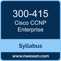 300-415 Syllabus, CCNP Enterprise Exam Questions PDF, Cisco 300-415 Dumps Free, CCNP Enterprise PDF, 300-415 Dumps, 300-415 PDF, CCNP Enterprise VCE, 300-415 Questions PDF, Cisco CCNP Enterprise Questions PDF, Cisco 300-415 VCE
