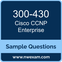 300-430 Syllabus, CCNP Enterprise Exam Questions PDF, Cisco 300-430 Dumps Free, CCNP Enterprise PDF, 300-430 Dumps, 300-430 PDF, CCNP Enterprise VCE, 300-430 Questions PDF, Cisco CCNP Enterprise Questions PDF, Cisco 300-430 VCE