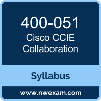 400-051 Syllabus, CCIE Collaboration Exam Questions PDF, Cisco 400-051 Dumps Free, CCIE Collaboration PDF, 400-051 Dumps, 400-051 PDF, CCIE Collaboration VCE, 400-051 Questions PDF, Cisco CCIE Collaboration Questions PDF, Cisco 400-051 VCE