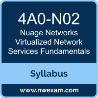 4A0-N02 Syllabus, Virtualized Network Services Fundamentals Exam Questions PDF, Nuage Networks 4A0-N02 Dumps Free, Virtualized Network Services Fundamentals PDF, 4A0-N02 Dumps, 4A0-N02 PDF, Virtualized Network Services Fundamentals VCE, 4A0-N02 Questions PDF, Nuage Networks Virtualized Network Services Fundamentals Questions PDF, Nuage Networks 4A0-N02 VCE