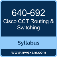 640-692 Syllabus, CCT Routing & Switching Exam Questions PDF, Cisco 640-692 Dumps Free, CCT Routing & Switching PDF, 640-692 Dumps, 640-692 PDF, CCT Routing & Switching VCE, 640-692 Questions PDF, Cisco CCT Routing & Switching Questions PDF, Cisco 640-692 VCE