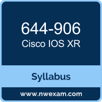 644-906 Syllabus, IOS XR Exam Questions PDF, Cisco 644-906 Dumps Free, IOS XR PDF, 644-906 Dumps, 644-906 PDF, IOS XR VCE, 644-906 Questions PDF, Cisco IOS XR Questions PDF, Cisco 644-906 VCE