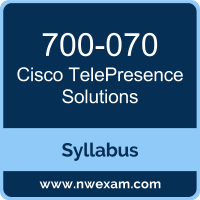 700-070 Syllabus, TelePresence Solutions Exam Questions PDF, Cisco 700-070 Dumps Free, TelePresence Solutions PDF, 700-070 Dumps, 700-070 PDF, TelePresence Solutions VCE, 700-070 Questions PDF, Cisco TelePresence Solutions Questions PDF, Cisco 700-070 VCE