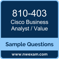 Business Analyst / Value Dumps, 810-403 Dumps, Cisco OUTCOMES PDF, 810-403 PDF, Business Analyst / Value VCE, Cisco Business Analyst / Value Questions PDF, Cisco Exam VCE, Cisco 810-403 VCE, Business Analyst / Value Cheat Sheet