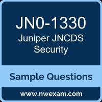 Free Juniper JNCDS Security (JNCDS-SEC) Certification Sample