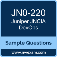 Free Juniper JNCIA DevOps (JNCIA-DevOps) Certification Sample