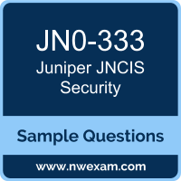 Free Juniper JNCIS Security (JNCIS-SEC) Certification Sample