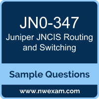 JNCIS Routing and Switching Dumps, JN0-347 Dumps, Juniper JNCIS-ENT PDF, JN0-347 PDF, JNCIS Routing and Switching VCE, Juniper JNCIS Routing and Switching Questions PDF, Juniper Exam VCE, Juniper JN0-347 VCE, JNCIS Routing and Switching Cheat Sheet