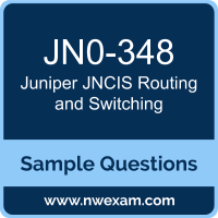 JNCIS Routing and Switching Dumps, JN0-348 Dumps, Juniper JNCIS-ENT PDF, JN0-348 PDF, JNCIS Routing and Switching VCE, Juniper JNCIS Routing and Switching Questions PDF, Juniper Exam VCE, Juniper JN0-348 VCE, JNCIS Routing and Switching Cheat Sheet