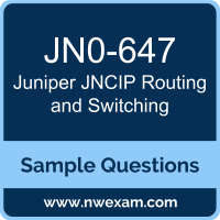 JNCIP Routing and Switching Dumps, JN0-647 Dumps, Juniper JNCIP-ENT PDF, JN0-647 PDF, JNCIP Routing and Switching VCE, Juniper JNCIP Routing and Switching Questions PDF, Juniper Exam VCE, Juniper JN0-647 VCE, JNCIP Routing and Switching Cheat Sheet