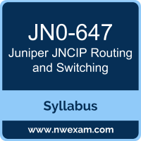 JN0-647 Syllabus, JNCIP Routing and Switching Exam Questions PDF, Juniper JN0-647 Dumps Free, JNCIP Routing and Switching PDF, JN0-647 Dumps, JN0-647 PDF, JNCIP Routing and Switching VCE, JN0-647 Questions PDF, Juniper JNCIP Routing and Switching Questions PDF, Juniper JN0-647 VCE