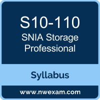S10-110 Syllabus, Storage Professional Exam Questions PDF, SNIA S10-110 Dumps Free, Storage Professional PDF, S10-110 Dumps, S10-110 PDF, Storage Professional VCE, S10-110 Questions PDF, SNIA Storage Professional Questions PDF, SNIA S10-110 VCE