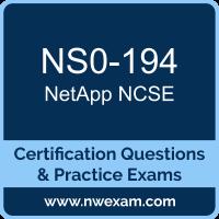 NS0-194: NetApp Support Engineer (NCSE)